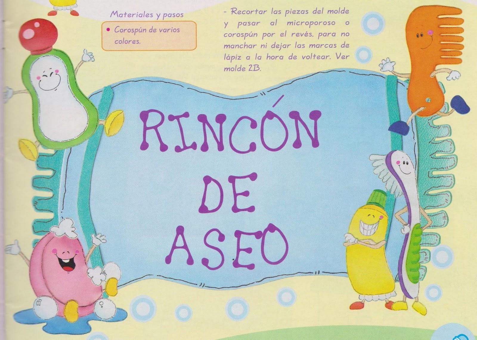 Rayito de colores cartel rinc n de aseo for Imagenes de utiles de aseo