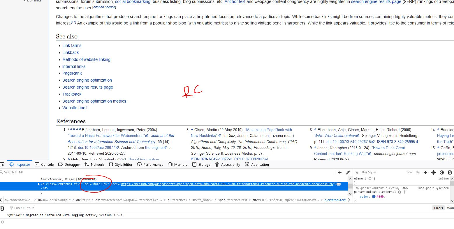 nofollow rel wikipedia