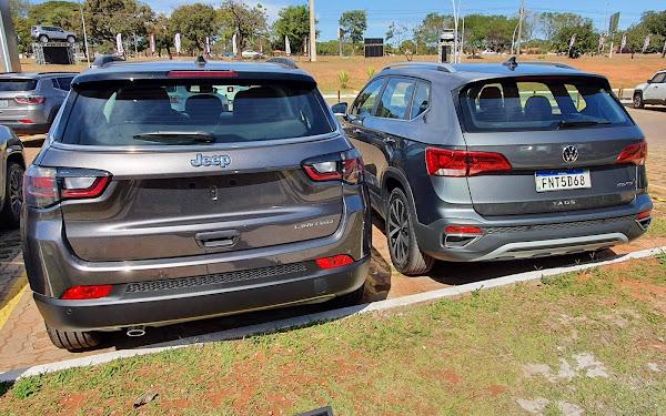 VW Taos x Jeep Compass Flex: comparativo de consumo, preço e performance