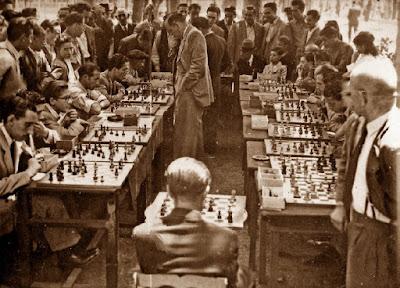 Simultáneas de ajedrez de Àngel Ribera en 1947
