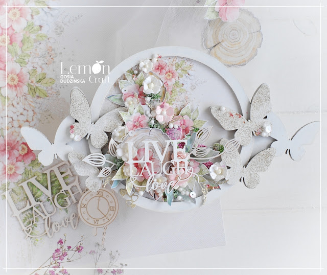 Romantyczna ramka handmade - oryginalna ozdoba Twojego domu!