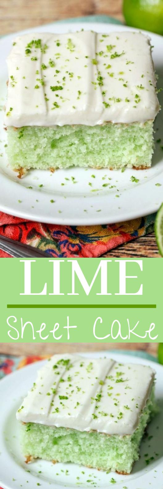 Lime Sheet Cake #desserts #cake