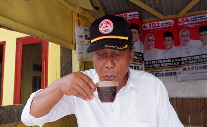 Kampanye di Ciomas, Pandji Disuguhi Kopi Gunung Karang
