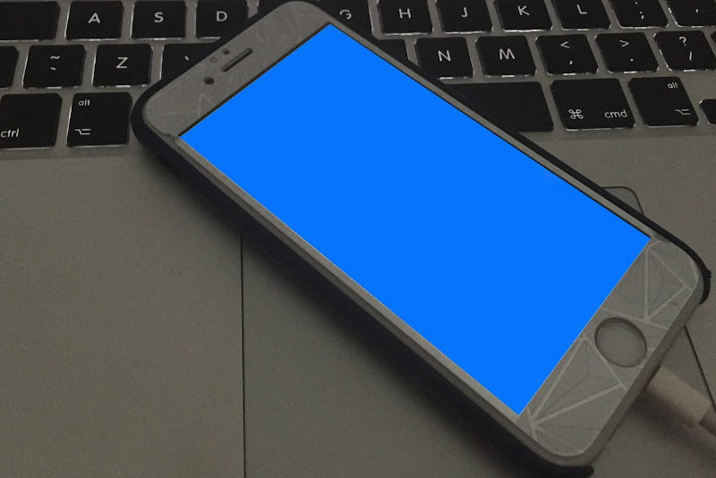 fix iphone blue screen of death