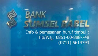 Huruf stenlis bank sumsel lokasi Rs. siloam Palembang square