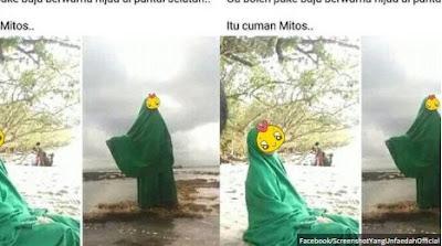 Kabar Berita Terbaru Hari Ini VIRAL Perempuan Berfoto dengan Pakaian Berwarna Hijau di Pantai Selatan, Hadapi Mitos Tanah Jawa