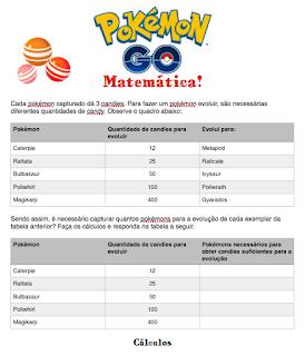 Já pensou em ensinar matemática usando Pokémon Go?