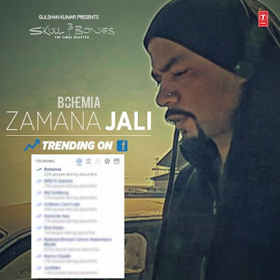 BOHEMIA - Zamana Jali (Music Video) Lyrics - Skull & Bones - team bohemia