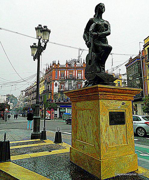 Sevilha, bairro de Triana - monumento à tradição flamenca