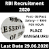 RBI Recruitment 2020 Apply Online 06 Medical Consultant Posts