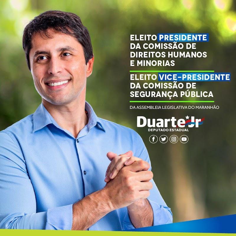 O deputado estadual Duarte Jr. foi eleito presidente da Comissão de Direitos Humanos e vice-presidente da Comissão de Segurança Pública