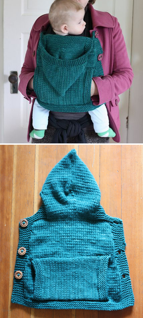Hooded Coat Extension Panel - For Babywearing