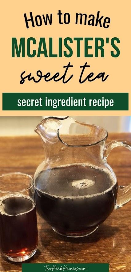 Copycat McAlister's Sweet Tea