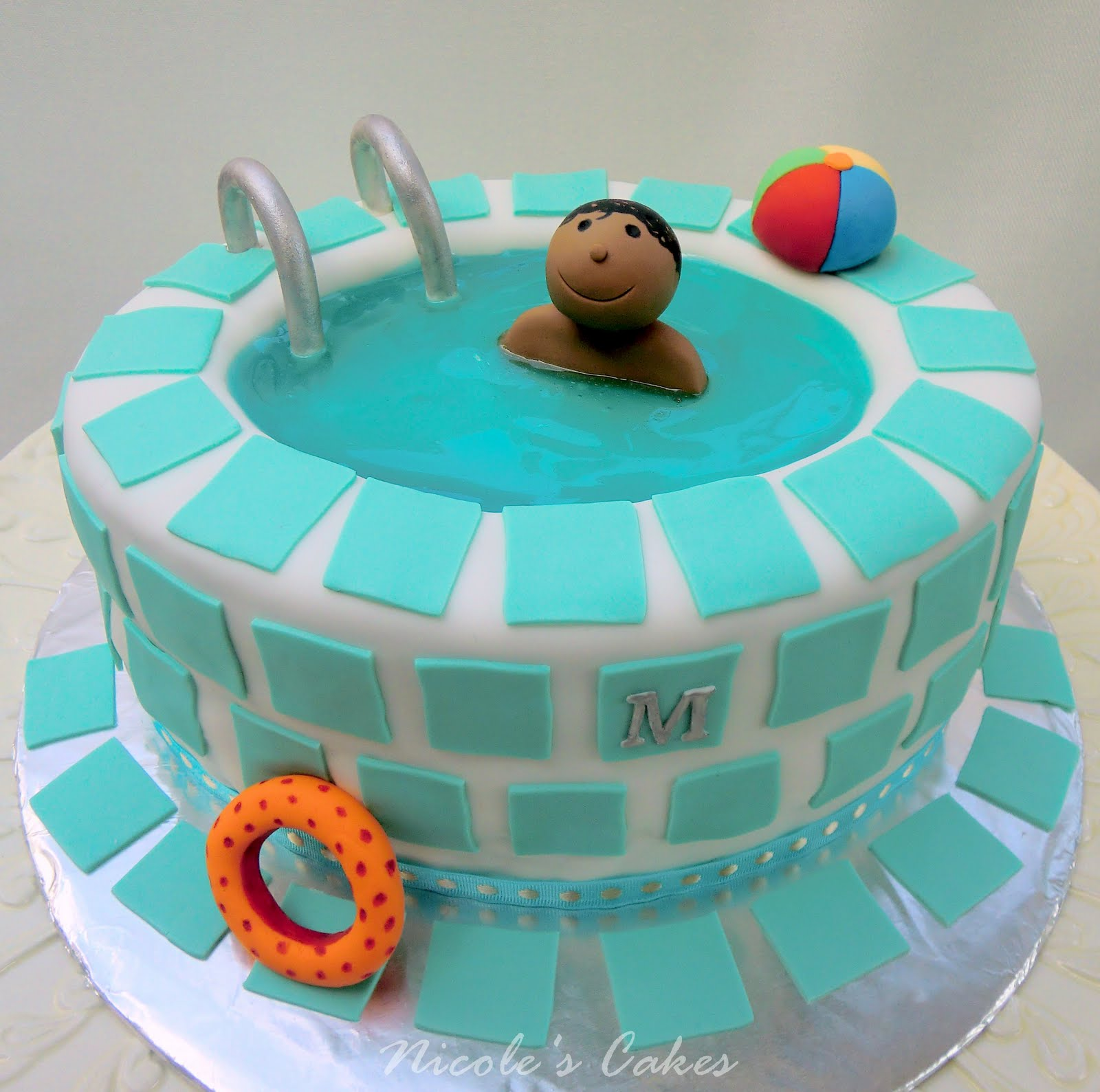 Confections, Cakes & Creations!: Swimming Pool Birthday Cake