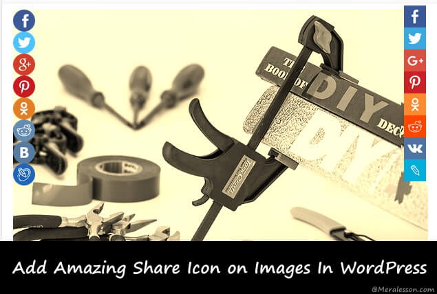 add share icons to your WordPress images
