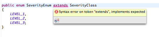 You can not extends any other class in enum