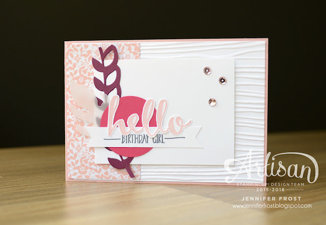 #TGIFc44, Papercraft by Jennifer Frost, Botanical Builder Framelits, Stampin' Up!, Sale-a-bration 2016, Hello