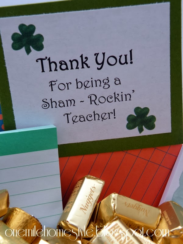 Thank You For Being A Sham-Rockin' Teacher - St Patrick's Day Teacher Gift