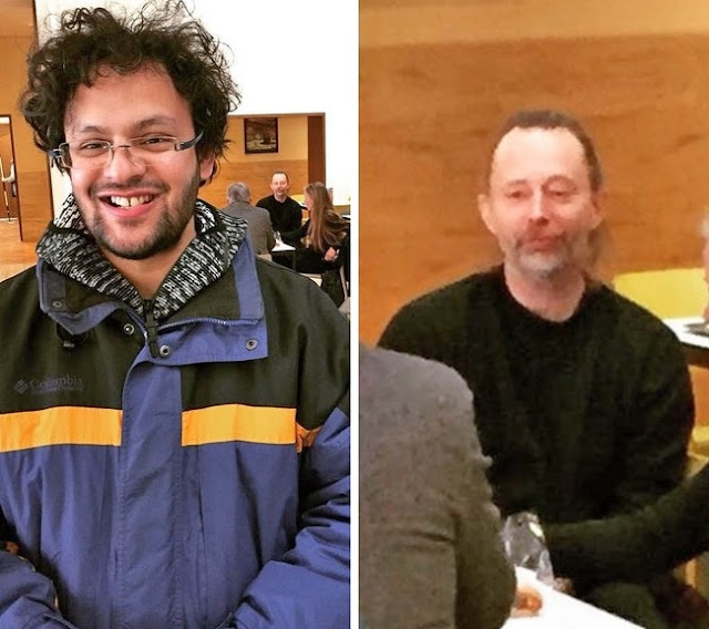 Quando você decide tirar uma foto de Thom Yorke, mas ele percebe e está chateado