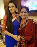 Anupriya Kapoor with her mother