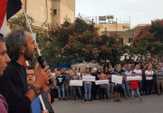 خيمة وطن في الجولان المحتل رفضاً لإجراء ما يسمى انتخابات المجالس المحلية الإسرائيلية