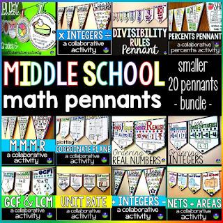 Middle School Math Pennants