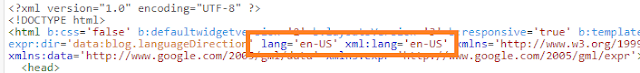 website language