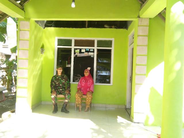Rumah Kusnah Kini Bersinar Hijau Terang, Seterang Hatinya Berkat TMMD Reg 105