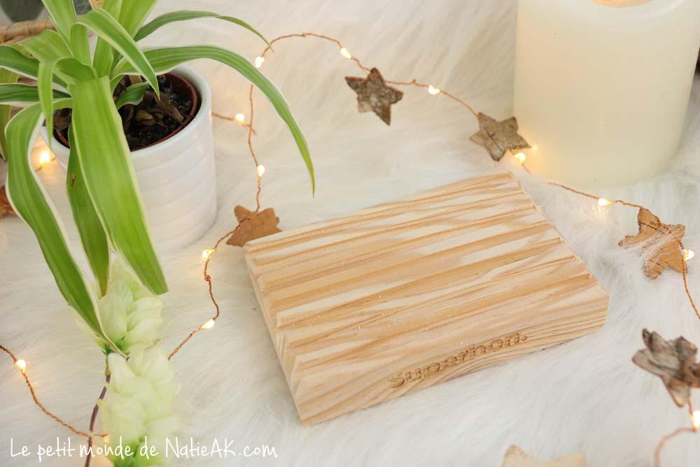 porte-savon bois naturel Superbon