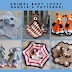 6 Pattern Bundle Animal Baby Lovey Security Blankets Toy Comforters