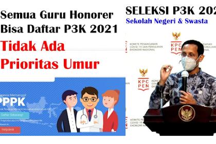 Semua Guru Honorer Bisa Daftar PPPK 2021 Tidak Ada Batasan Umur, Ini Syarat dan Jadwalnya, Simak Berapa Gaji dan Tunjangan PPPK