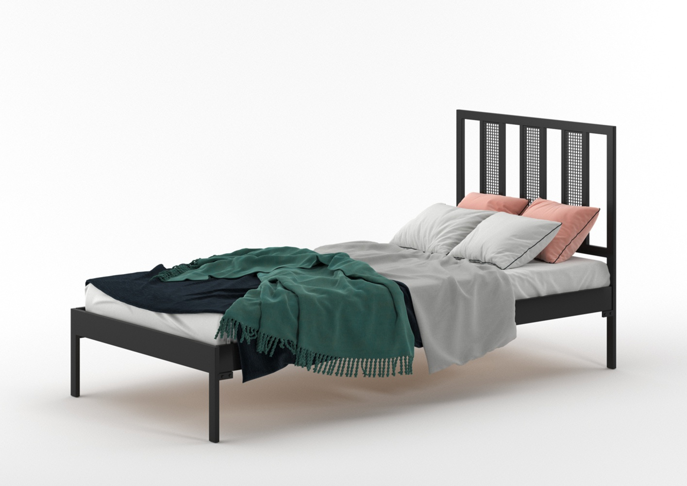 Łóżko metalowe Rio (wzór 16) (80-120 cm)