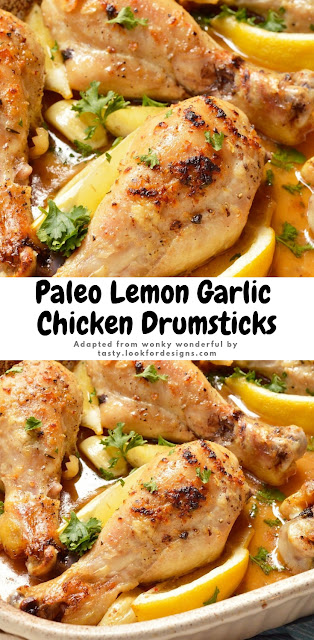 Paleo Lemon Garlic Chicken Drumsticks