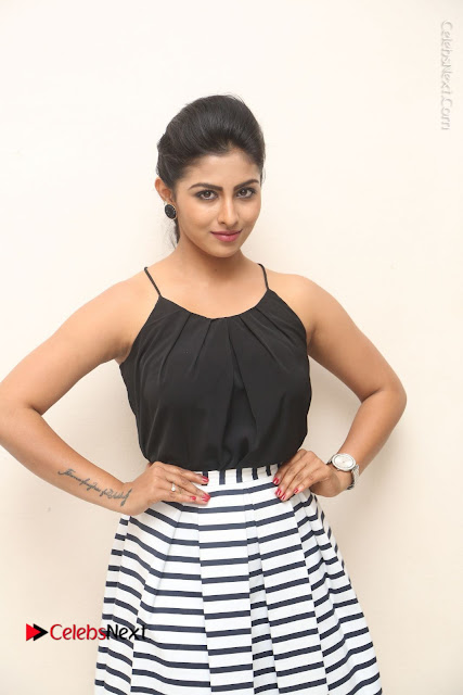 Telugu Actress Kruthika Jayakumar Stills in Short Dress at Intlo Deyyam Nakem Bhayam Success Meet  0001.JPG