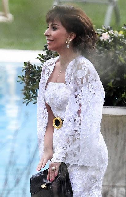 Lady Gaga – Plays Patrizia Reggiani on the set of 'House of Gucci' movie – Lake Como