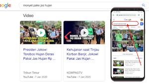 Presiden Jokowi jadi Monyet Pakai Jas Hujan Di Google? Ini Fakta Sebenarnya