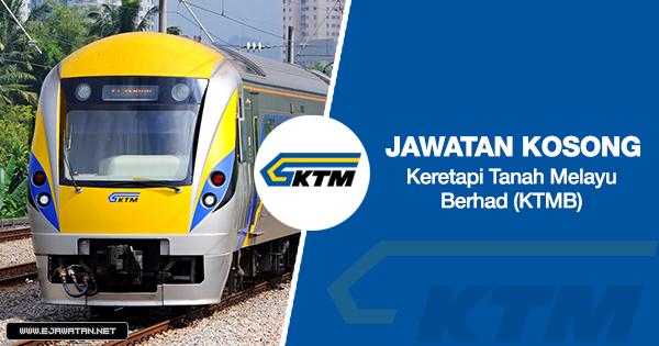 jawatan kosong Keretapi Tanah Melayu Berhad (KTMB) 2020