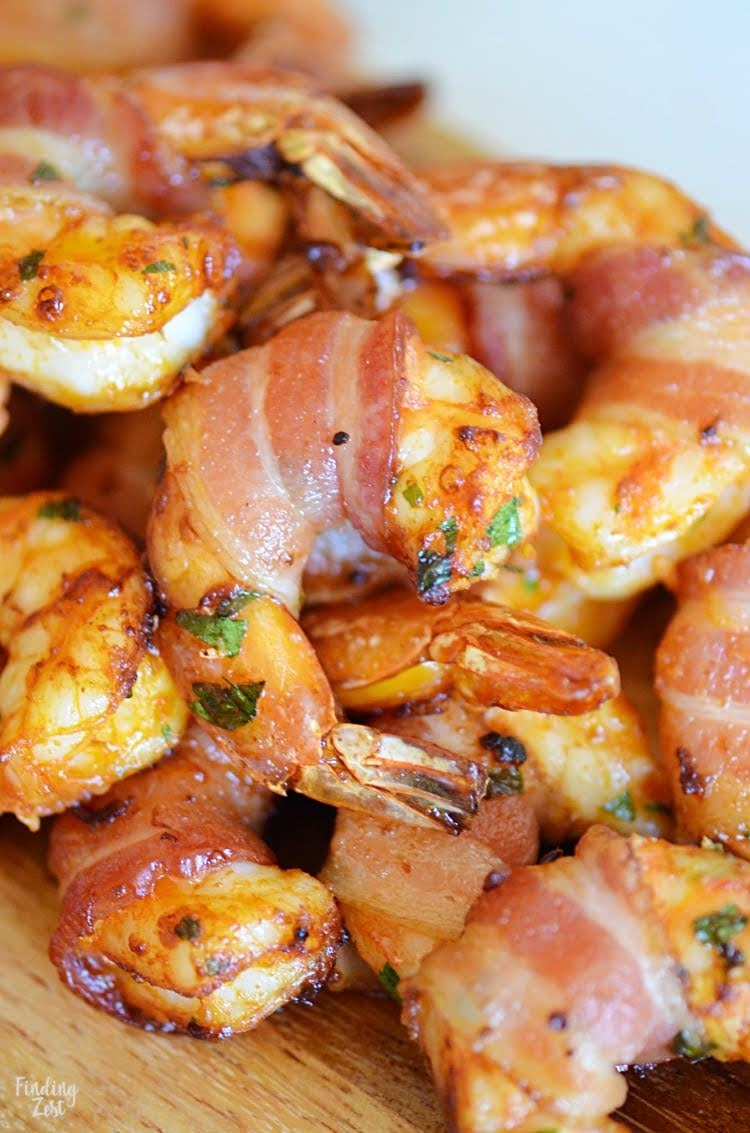 Bacon-Wrapped Shrimp in Air Fryer | Photo Courtesy of Finding Zest