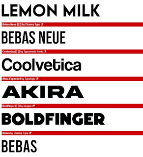 san serif font type