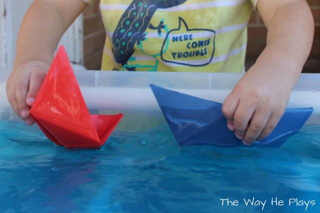 Thin cardboard paper boats last longer