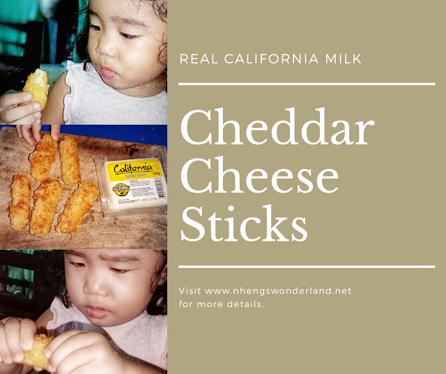 Cheddar Cheese Sticks using Real California Milk cheese