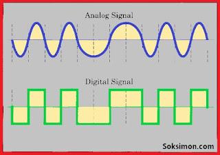 Perbedaan Sinyal Analog dan Sinyal Digital + Kelebihan dan Kekurangan