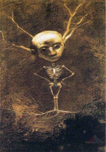 オディロン・ルドン、不気味な「目」を描いた画家の作品、10枚【a】 森の精神 1880