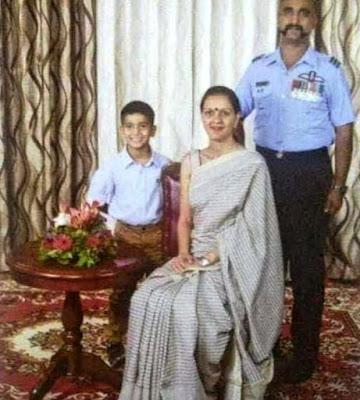 Abhinandan Varthaman With His Wife Tanvi Marwaha And Son Tavish