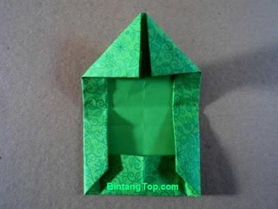 membuat lipatan kertas origami untuk pesan