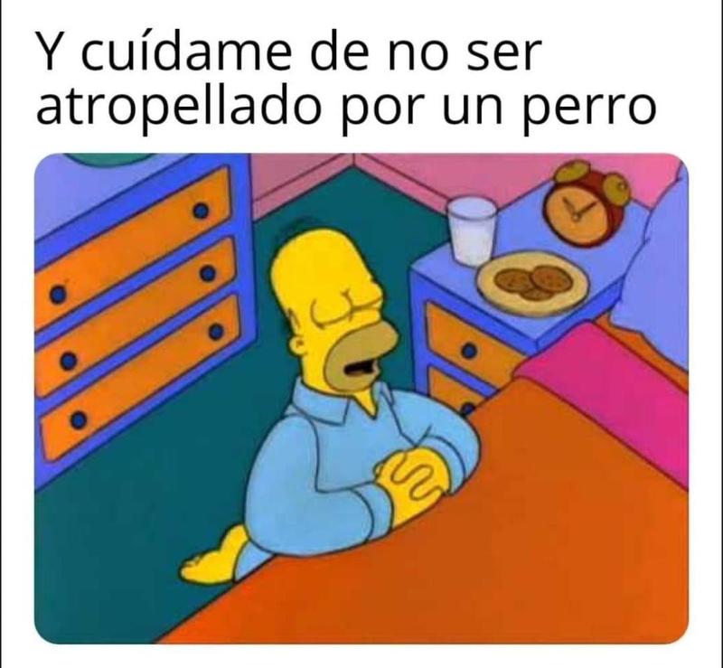 Homero rezando