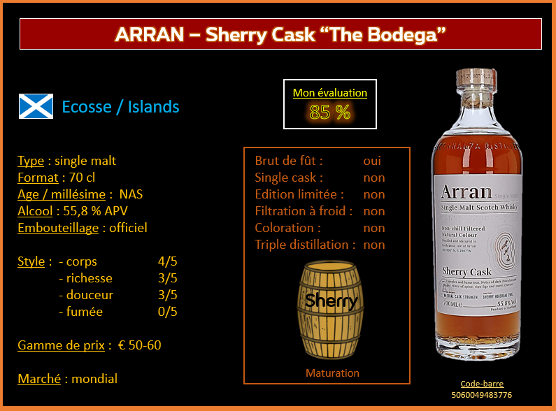 "Review #832 : Arran – Sherry Cask « The Bodega"""