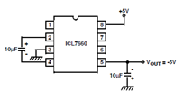 Generating Negative Supply using the ICL7660 Circuit Schematic and Datasheet