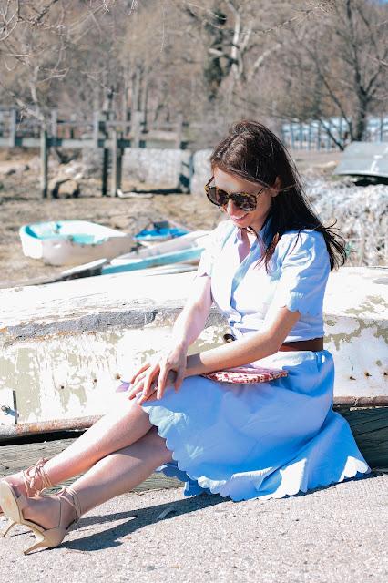 Scallop Shirtdress Coastal Style