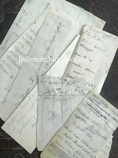 Scraps of paper in the Walter Davis Bible https://jollettetc.blogspot.com